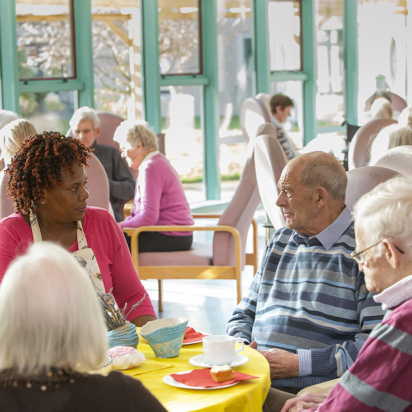 Residents of St. Joseph's Shankhill, at our tea party event to celebrate the Fairland Collective artist in residence.